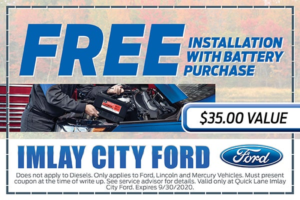 free installation with battery purchase imlay city ford inc specials imlay city mi battery purchase imlay city ford